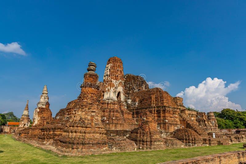 Mahathattempel in het gebied van het Historische Park van Sukhothai stock afbeeldingen