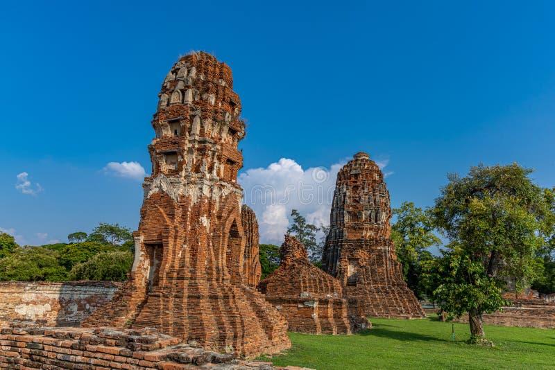 Mahathattempel in het gebied van het Historische Park van Sukhothai stock foto