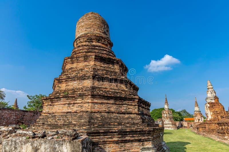 Mahathattempel in het gebied van het Historische Park van Sukhothai stock fotografie