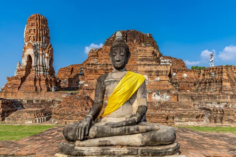 Mahathattempel in het gebied van het Historische Park van Sukhothai royalty-vrije stock foto