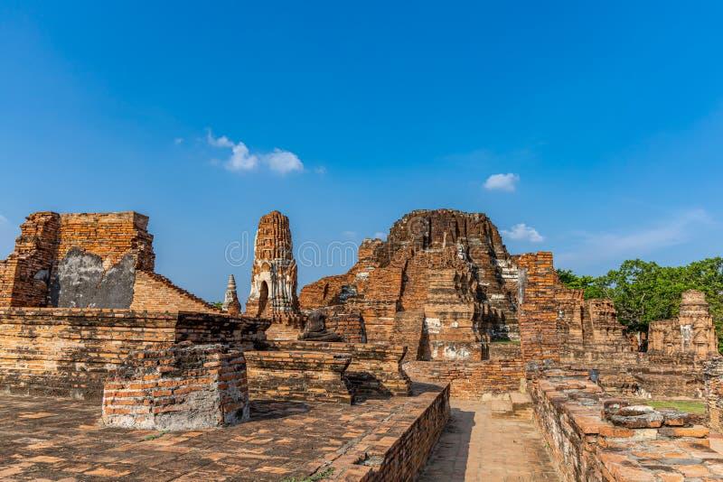 Mahathattempel in het gebied van het Historische Park van Sukhothai royalty-vrije stock afbeeldingen