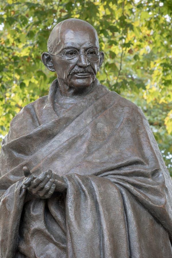 Mahatma Gandhi雕象 免版税图库摄影