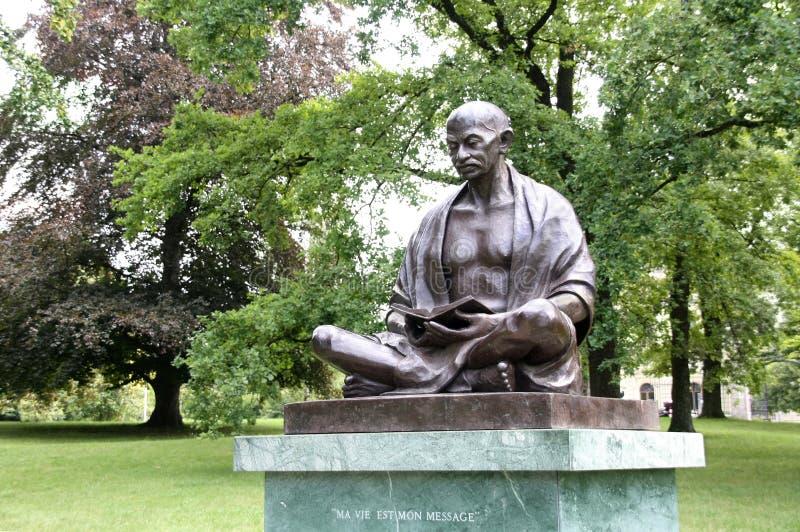 Mahatma Gandhi雕象 库存图片