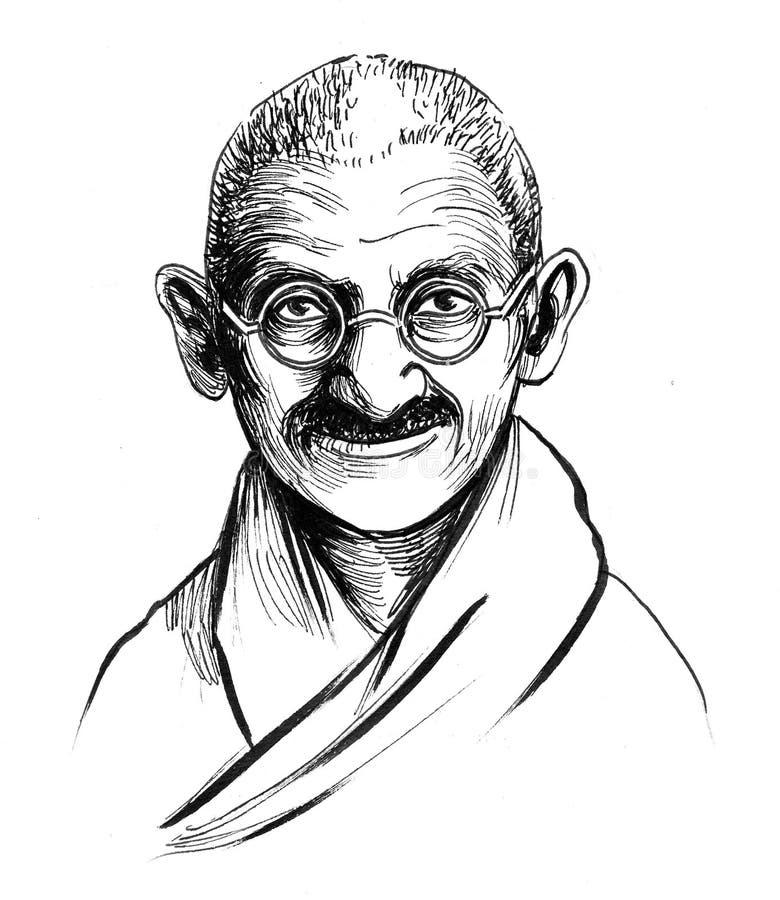 Mahatma Gandhi ilustração do vetor
