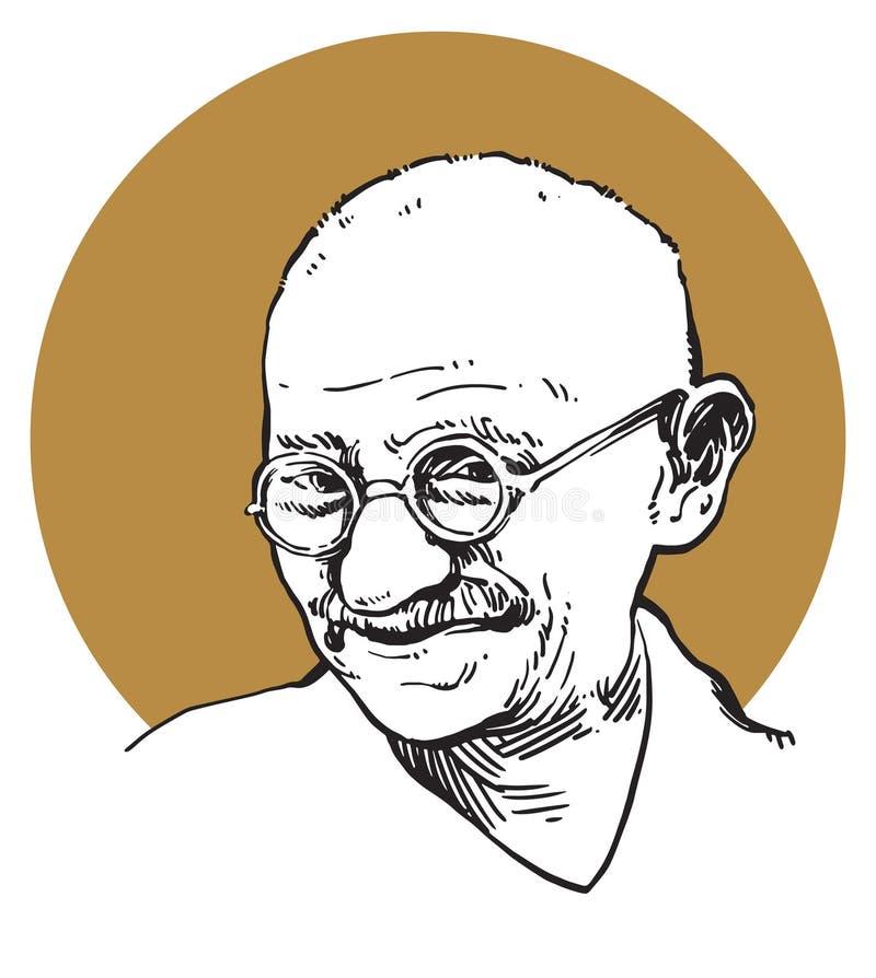 Mahatma Gandhi stock illustrationer