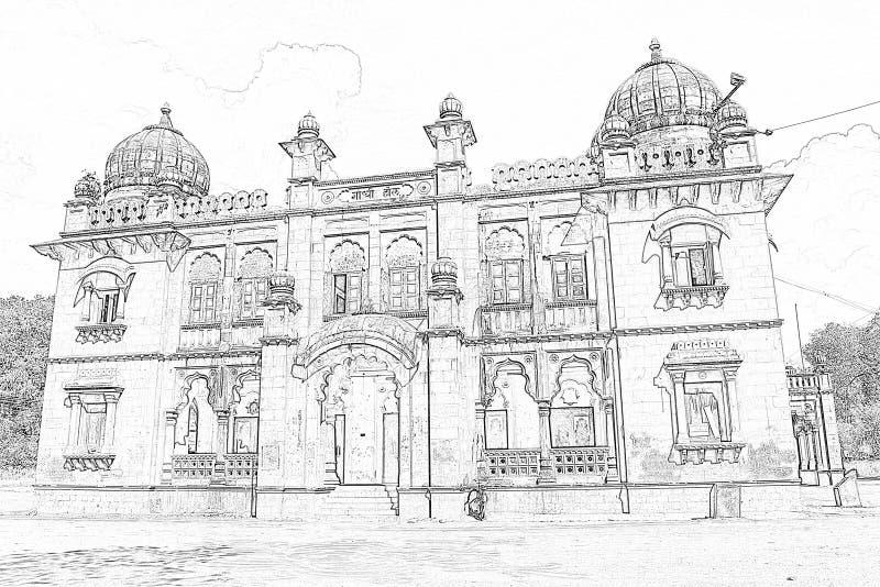 Mahatma Gandhi Hall Indore arkivbild