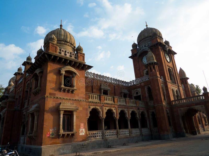 Mahatma Gandhi Hall som gemensamt är bekant som Gandhi Hall - Indore royaltyfri fotografi
