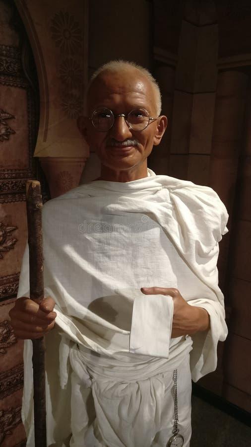 Mahatma Gandhi an Madame Tussauds stockfotografie