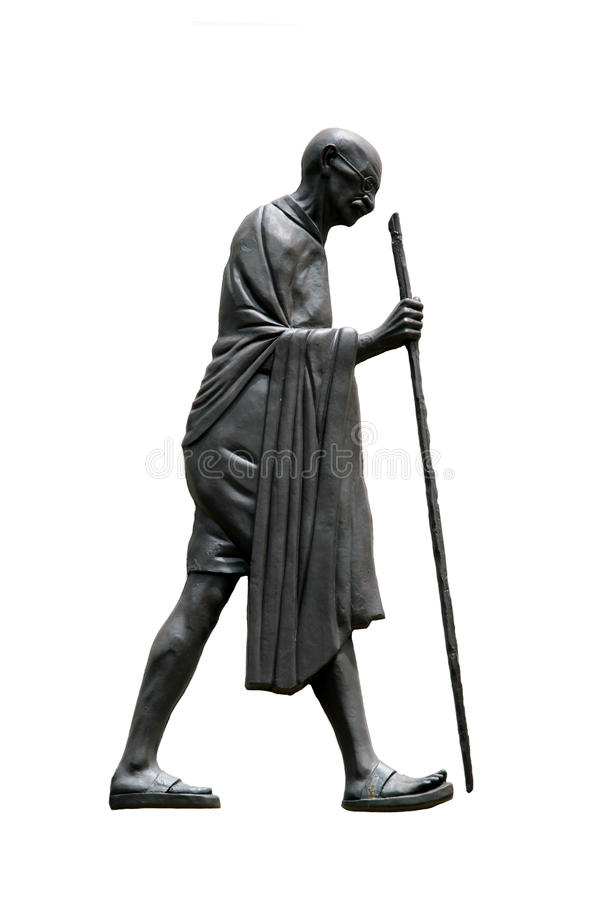 Mahatma Gandhi, marche de dandi photographie stock
