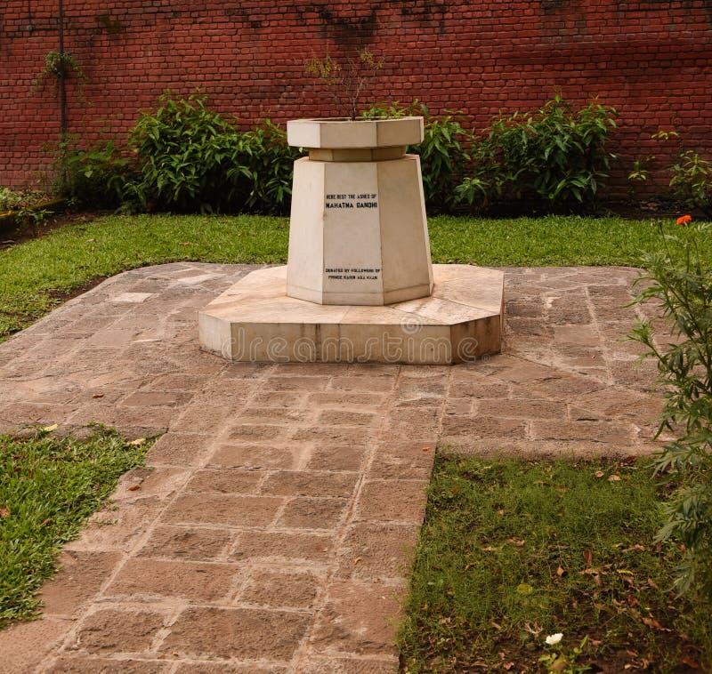 Mahatma Gandhi minnesmärke fotografering för bildbyråer