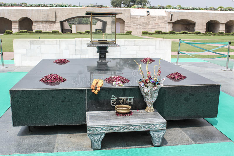 Mahatma Gandhi minnesmärke royaltyfri fotografi