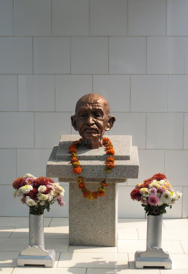 Mahatma Gandhi minnesmärke royaltyfria bilder