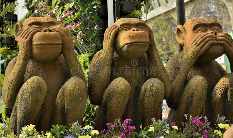 Mahatma Gandhi`s Three Monkeys royalty free stock photos