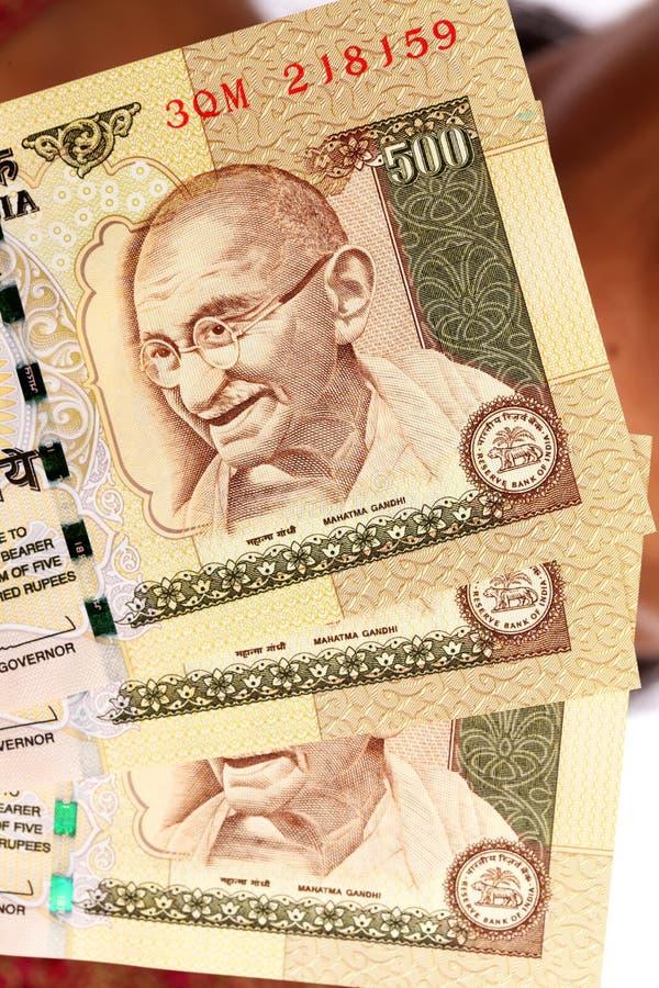 Mahatma Gandhi sur des notes de rpee photo stock
