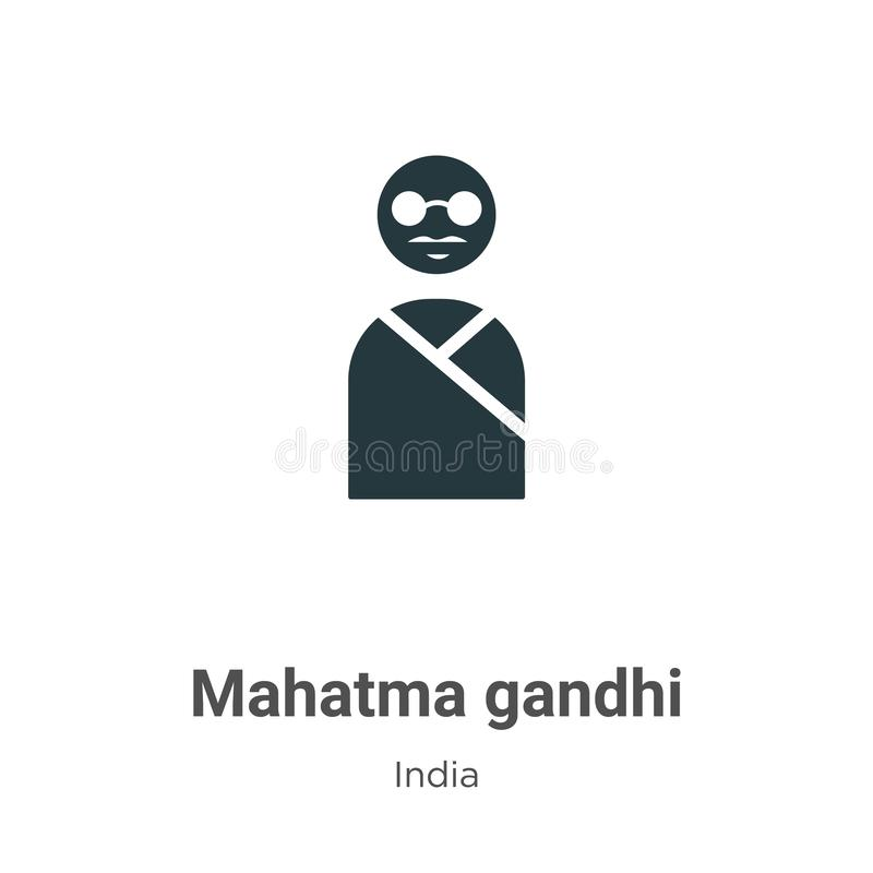 Mahatma gandhi vector icon on white background. Flat vector mahatma gandhi icon symbol sign from modern india collection for vector illustration