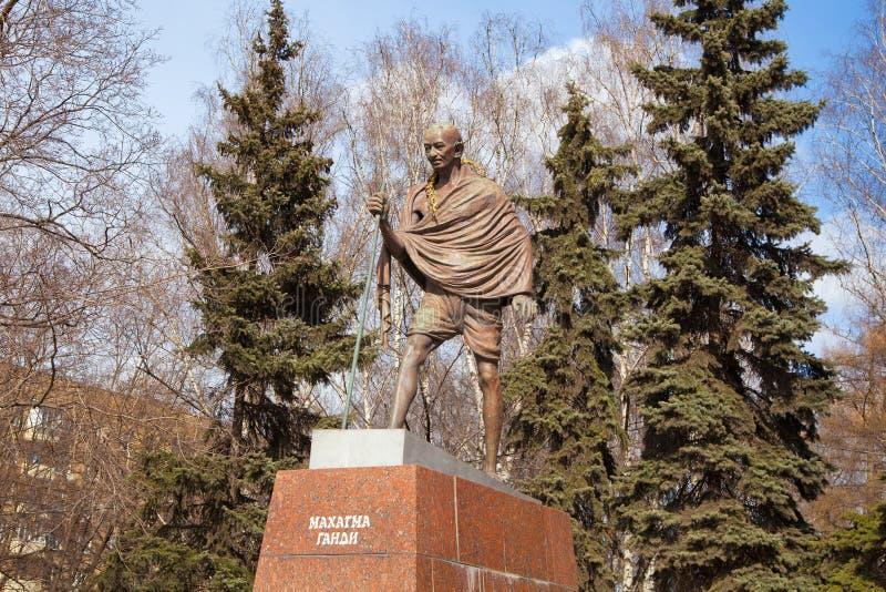 Mahatma Gandhi. Zabytek w Moskwa zdjęcia royalty free