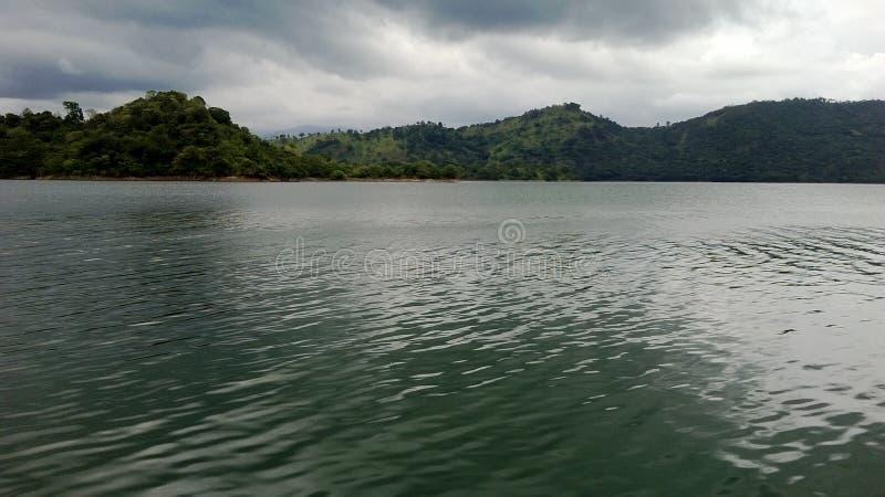 Mahavali河在斯里兰卡 库存图片