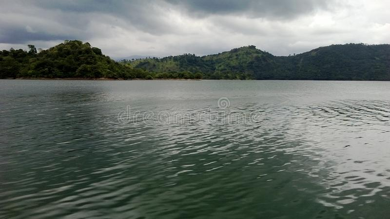 Mahavali flod i Sri Lanka arkivbilder