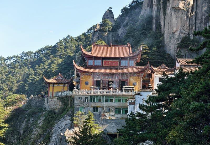 Mahavira Hall sur la montagne de Jiuhua images stock