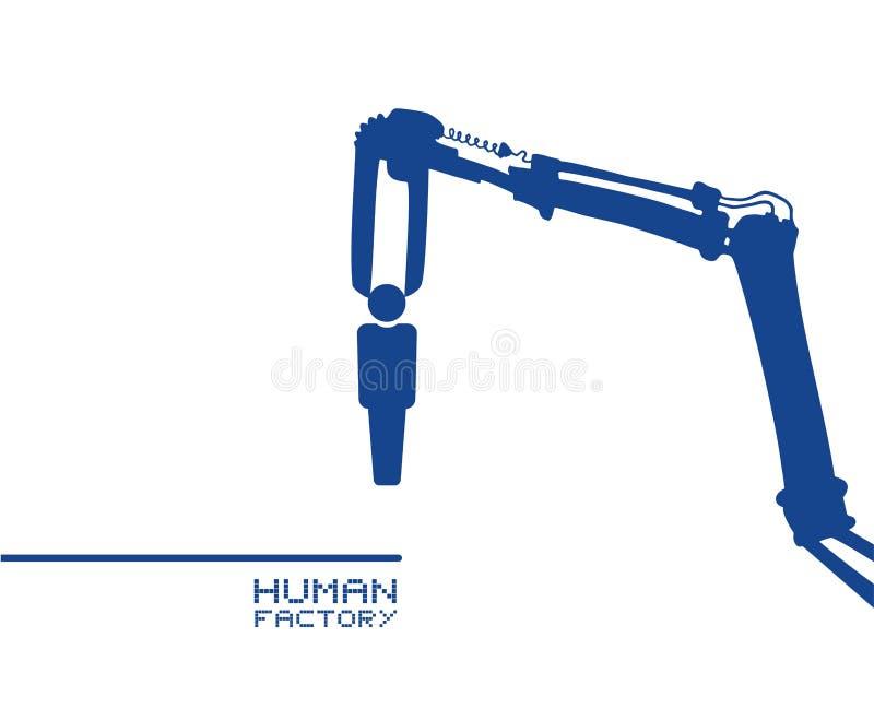 Mahcine analysing a human draw. Creative design of Mahcine analysing a human draw vector illustration
