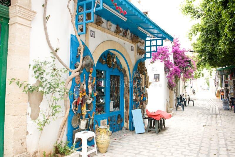 MAHDIYA, TUNÍSIA - 21 DE MAIO: o Medina, o distrito histórico fotografia de stock