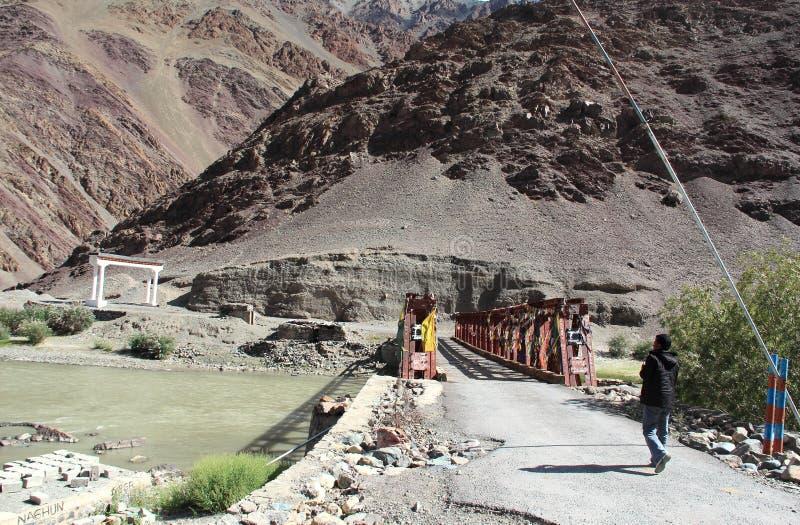 Mahe Bridge Ladakh. stock photos