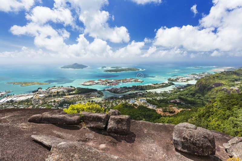 Mahe View, Seychellen lizenzfreies stockbild