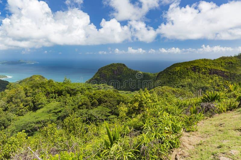 Mahe View sul, Seychelles fotos de stock
