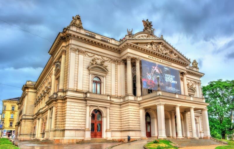 Mahen teater i Brno, Tjeckien arkivbilder