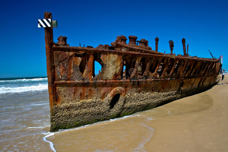 Maheno Shipwreck stock photos