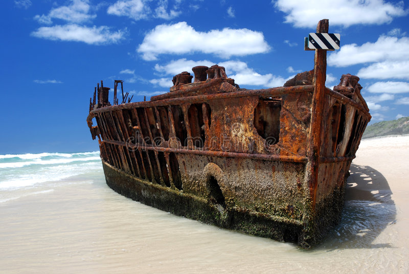 Maheno Shipwreck Royalty Free Stock Photo