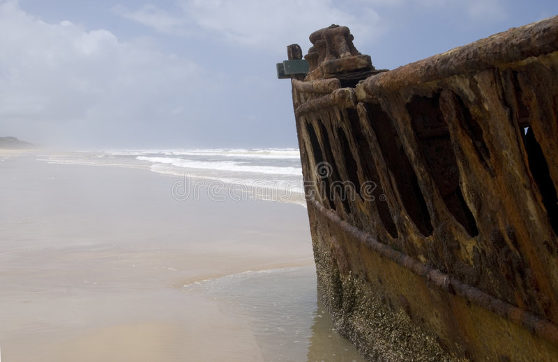 Download Maheno-Wreck Fraser Island stock photo. Image of outdoor - 2312126