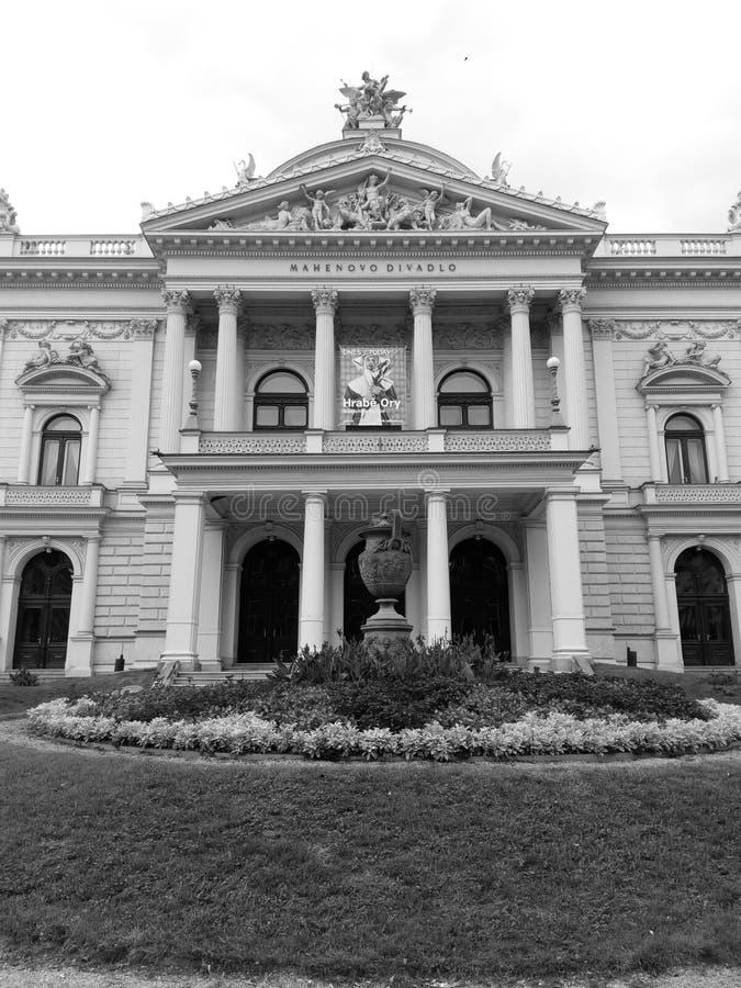 Mahenstheater in Brno royalty-vrije stock foto's