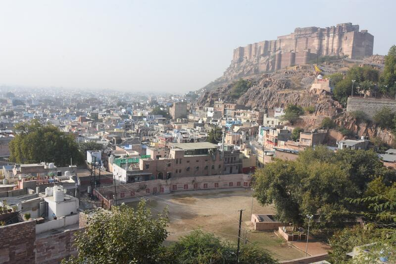 Maherangarh Fort built on the Chidiyakut mountain of Rajasthan royalty free stock image