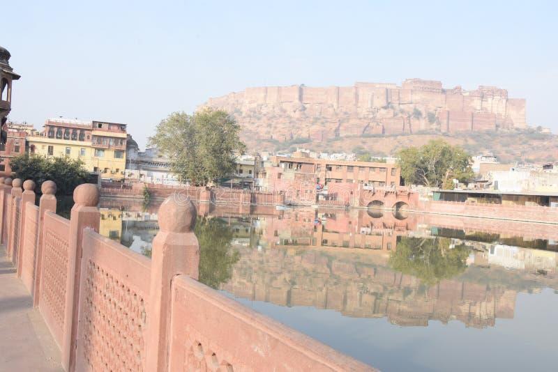 Maherangarh Fort built on the Chidiyakut mountain of Rajasthan stock photos