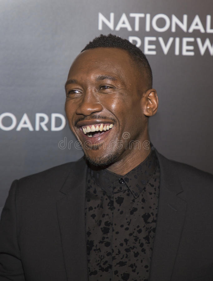 Mahershala Ali. Actor Mahershala Ali arrives for the National Board of Review Awards Gala at Cipriani 42nd Street on January 4, 2017. Ali was part of the winning royalty free stock photos