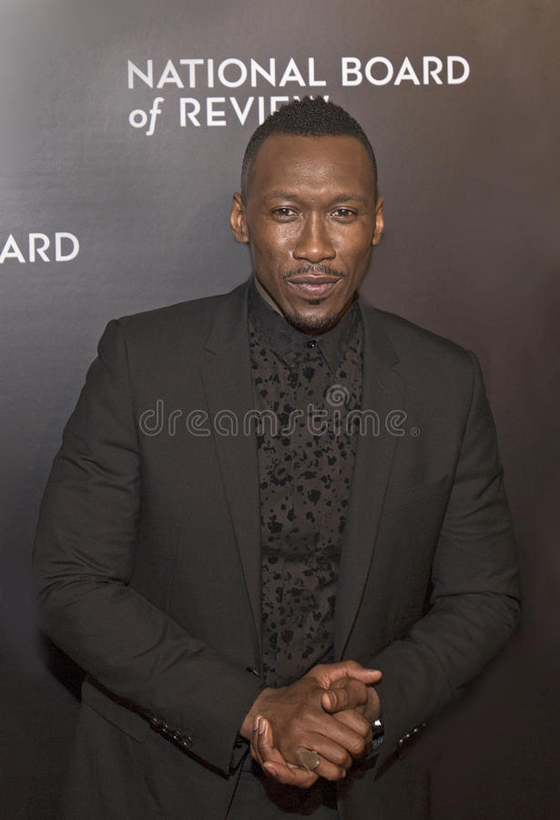 Mahershala Ali. Actor Mahershala Ali arrives for the National Board of Review Awards Gala at Cipriani 42nd Street on January 4, 2017. Ali was part of the winning royalty free stock image