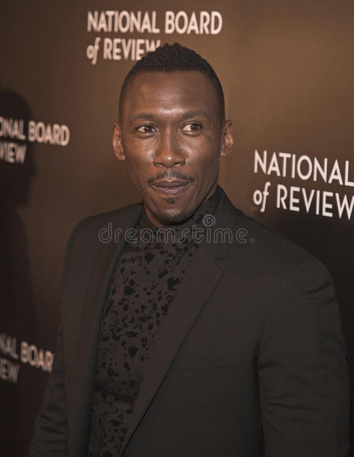 Mahershala Ali. Actor Mahershala Ali arrives for the National Board of Review Awards Gala at Cipriani 42nd Street on January 4, 2017. Ali was part of the winning stock image