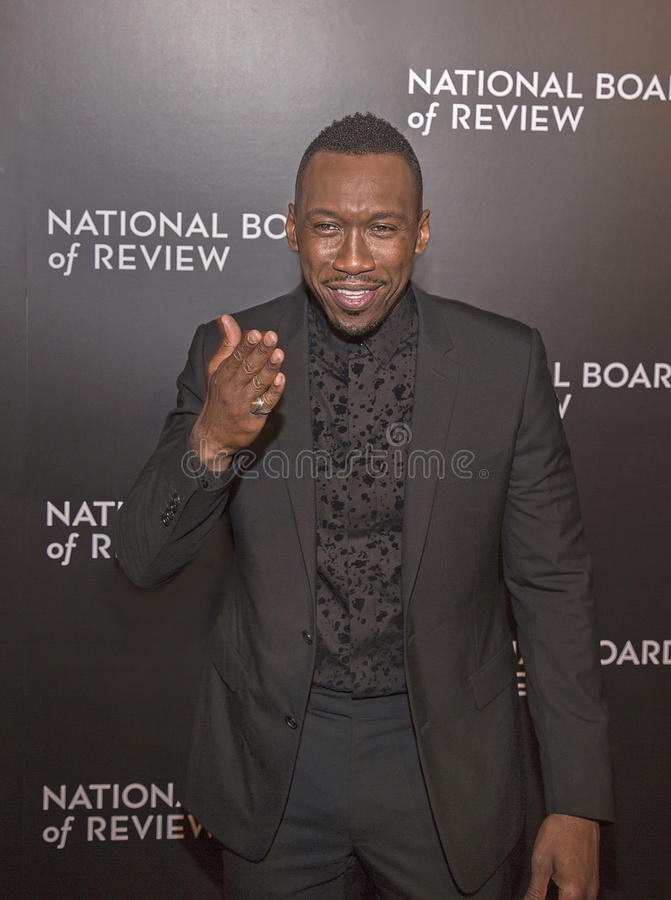 Mahershala Ali. Actor Mahershala Ali arrives for the National Board of Review Awards Gala at Cipriani 42nd Street on January 4, 2017. Ali was part of the winning royalty free stock photography