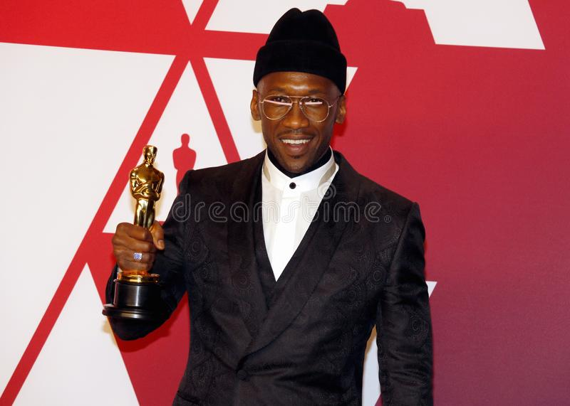 Mahershala Ali. At the 91st Annual Academy Awards - Winners Room held at the Hollywood and Highland in Los Angeles, USA on February 24, 2019 stock photography