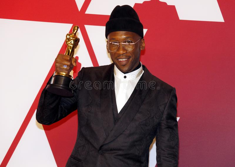 Mahershala Ali. At the 91st Annual Academy Awards - Press Room held at the Loews Hotel in Hollywood, USA on February 24, 2019 royalty free stock photo