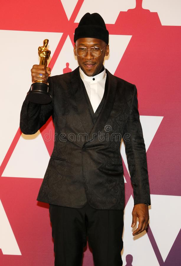 Mahershala Ali. At the 91st Annual Academy Awards - Winners Room held at the Hollywood and Highland in Los Angeles, USA on February 24, 2019 stock images