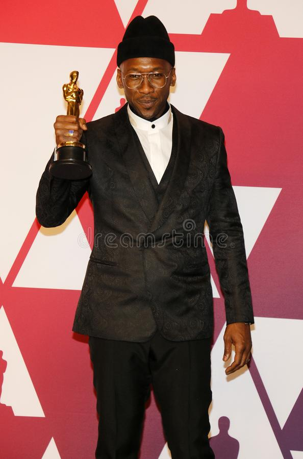 Mahershala Ali. At the 91st Annual Academy Awards - Winners Room held at the Hollywood and Highland in Los Angeles, USA on February 24, 2019 stock image