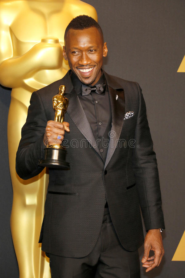 Mahershala Ali. At the 89th Annual Academy Awards - Press Room held at the Hollywood and Highland Center in Hollywood, USA on February 26, 2017 royalty free stock photo