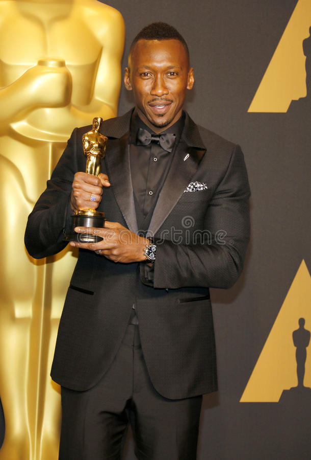Mahershala Ali. At the 89th Annual Academy Awards - Press Room held at the Hollywood and Highland Center in Hollywood, USA on February 26, 2017 royalty free stock images