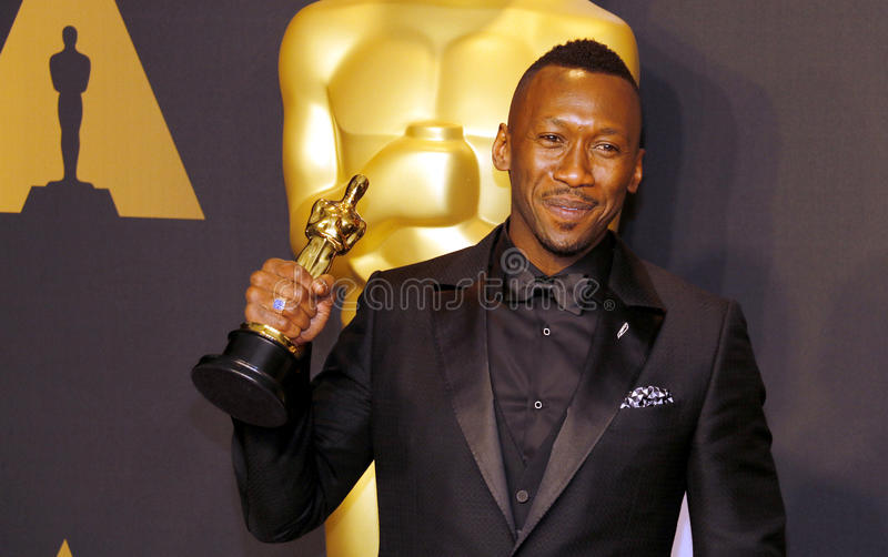 Mahershala Ali. At the 89th Annual Academy Awards - Press Room held at the Hollywood and Highland Center in Hollywood, USA on February 26, 2017 royalty free stock photography