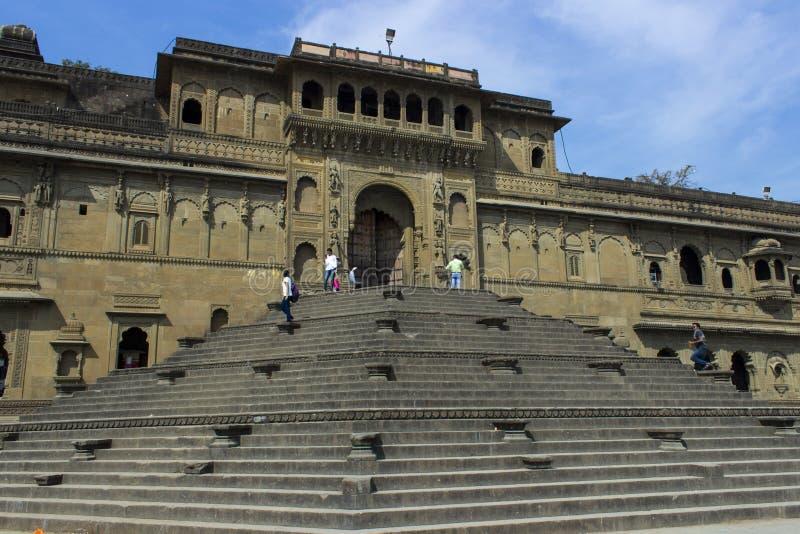 Maheshwar - Ahilya fort arkivbilder
