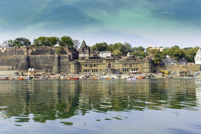 Maheshwar fort arkivbilder