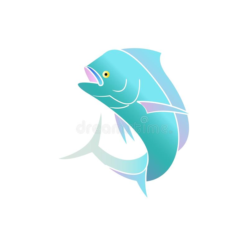 Mahi Mahi. Beautiful colorful mahi mahi fish vector illustration isolated on white background stock illustration