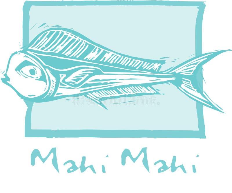 Mahi Mahi Fish in blue royalty free illustration